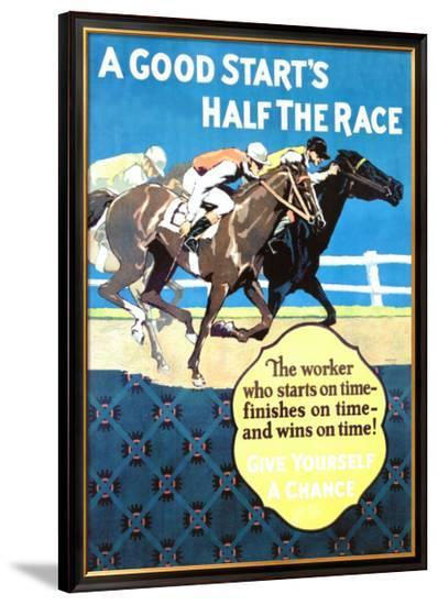 A Good Start Is Half the Race-Frank Mather Beatty-Framed Giclee Print
