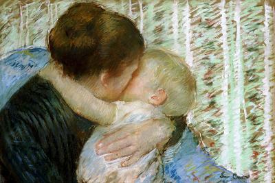 A Goodnight Hug-Mary Cassatt-Giclee Print