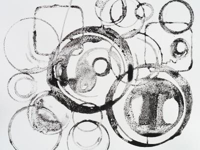 A Grainy Pattern of Stamped and Painted Rings-clivewa-Art Print