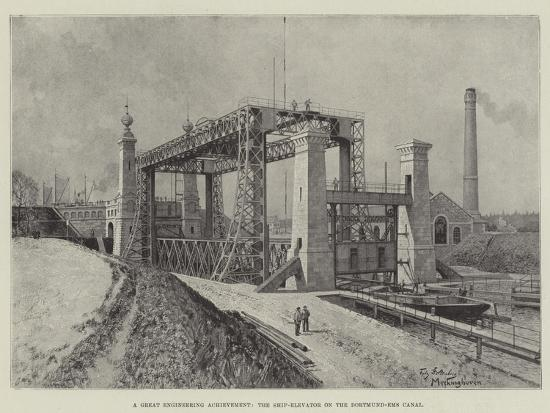 A Great Engineering Achievement, the Ship-Elevator on the Dortmund-Ems Canal-Fritz Stoltenberg-Giclee Print