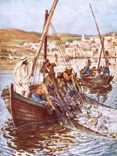 A Great Multitude of Fishes-William Brassey Hole-Giclee Print