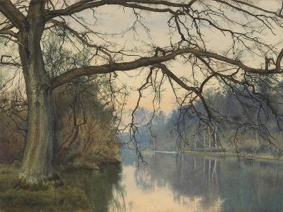 A Great Tree on a Riverbank, 1892 (Pencil, Pen and Black Ink and W/C on Paper)-William Fraser Garden-Giclee Print