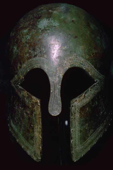 A Greek bronze helmet. Artist: Unknown-Unknown-Giclee Print
