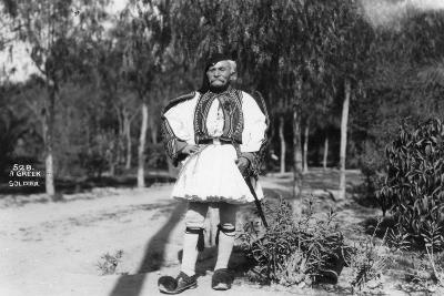 A Greek Soldier in Traditional Uniform, C1920s-C1930s--Giclee Print
