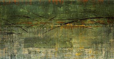 A Green Streak-Elizabeth Jardine-Art Print