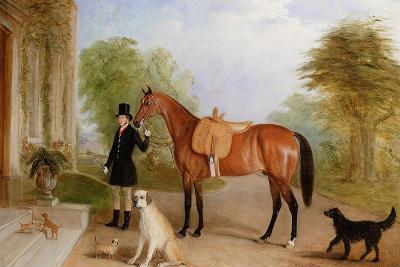 A Groom with a Horse-John E^ Ferneley-Giclee Print
