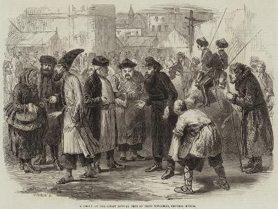 A Group at the Great Annual Fair at Nijni Novgorod, Central Russia--Giclee Print