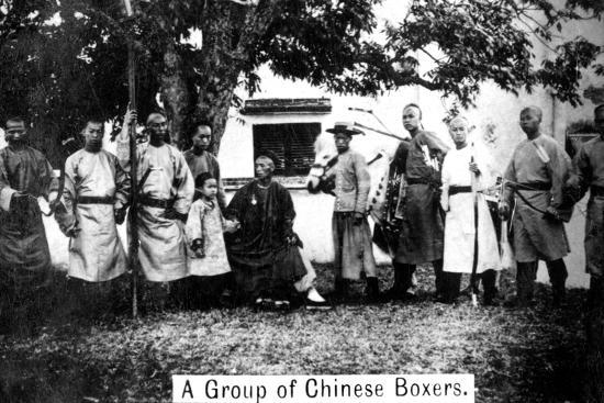 A Group of Chinese Boxers, 20th Century--Giclee Print