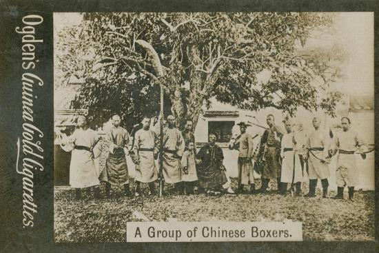 A Group of Chinese Boxers--Photographic Print
