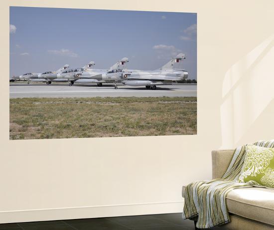 A Group of Dassault Mirage 2000-5Eda-Dda of the Qatar Emiri Air Force-Stocktrek Images-Wall Mural