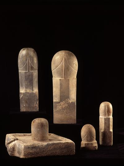 A Group of Large Linga--Photographic Print