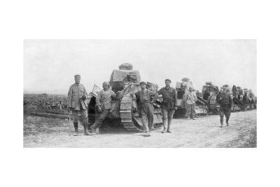 A Group of Light Tanks, Soissons, France, 1918--Giclee Print