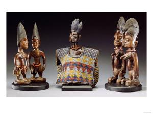 A Group of Male and Female Yoruba Twin Figures