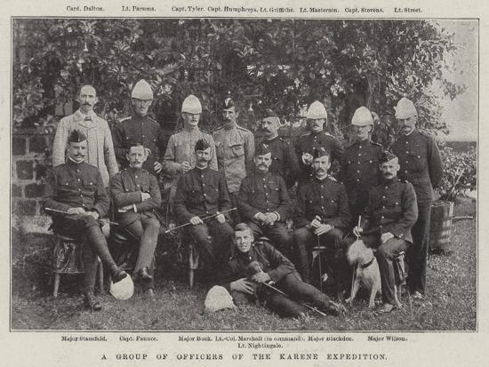 A Group of Officers of the Karene Expedition--Giclee Print