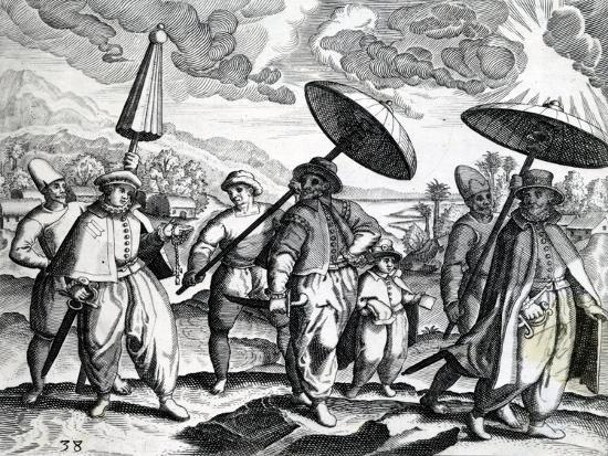 A Group of People from 'India Orientalis', 1598-Theodore de Bry-Giclee Print