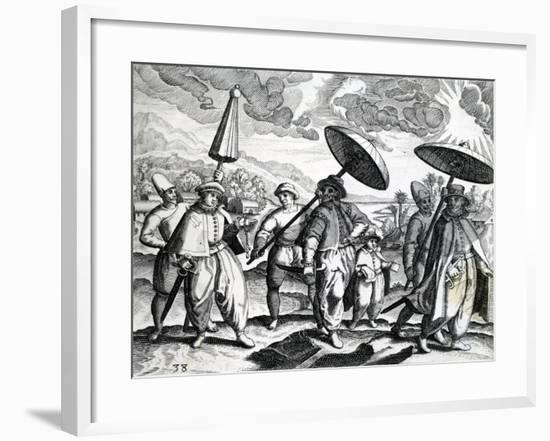 A Group of People from 'India Orientalis', 1598-Theodore de Bry-Framed Giclee Print