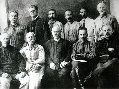 A Group of Revolutionaries and Participants in the Strikes of 1903-05 in St. Petersburg--Photographic Print