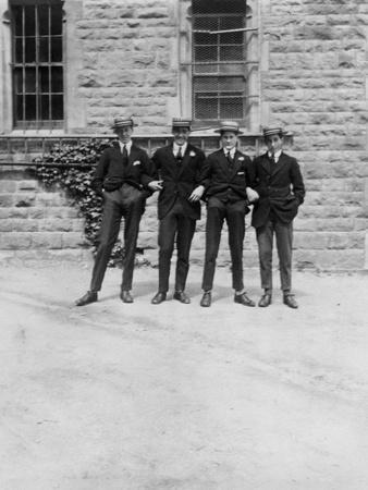 A Group of Schoolboys or Students, C1900s-C1930S--Giclee Print
