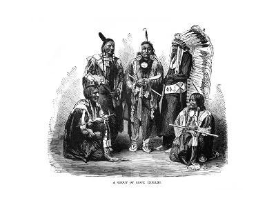 A Group of Sioux Indians, 1872--Giclee Print