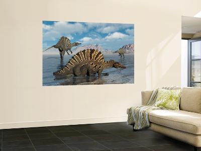 A Group of Spinosaurus-Stocktrek Images-Wall Mural