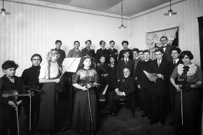 A Group of Students at the St. Petersburg Conservatoire, 1912--Photographic Print