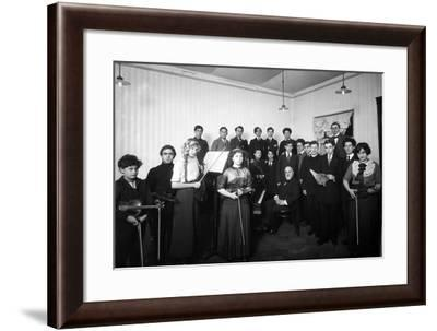 A Group of Students at the St. Petersburg Conservatoire, 1912--Framed Photographic Print