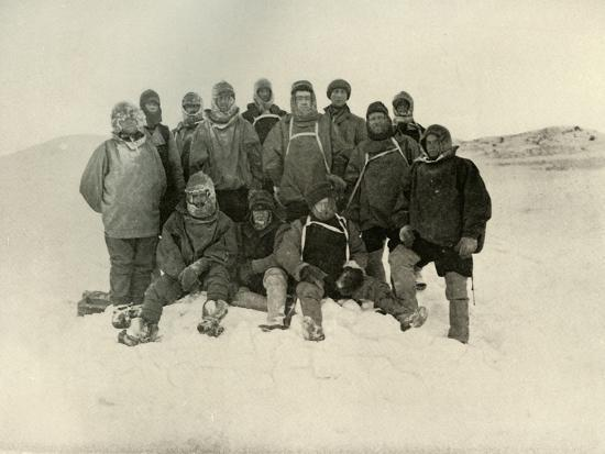 'A Group of the Shore Party at the Winter Quarters', c1908, (1909)-Unknown-Photographic Print
