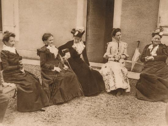 'A group of women talking', 1937-Unknown-Photographic Print