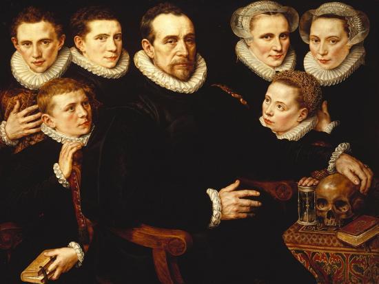 A Group Portrait of a Gentleman Aged 57-Adriaen Thomasz Key-Giclee Print