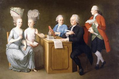 A Group Portrait of Monsieur Le Roy-Dominique Doncre-Giclee Print