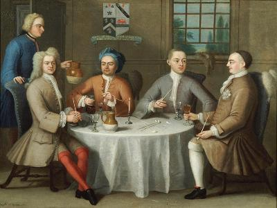 A Group Portrait of Sir Thomas Sebright, Sir John Bland and Two Friends, 1723-Benjamin Ferrers-Giclee Print