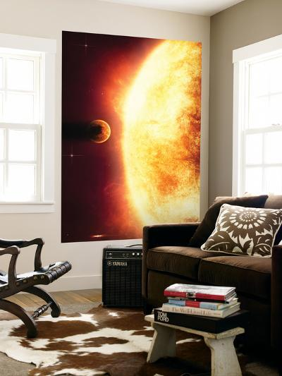 A Growing Sun About to Burn a Nearby Planet-Stocktrek Images-Wall Mural
