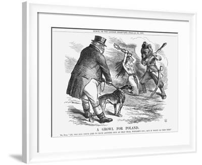 A Growl for Poland, 1863-John Tenniel-Framed Giclee Print