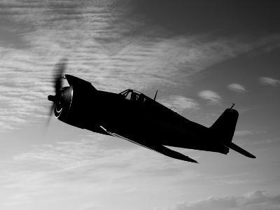 A Grumman F6F Hellcat Fighter Plane in Flight-Stocktrek Images-Photographic Print