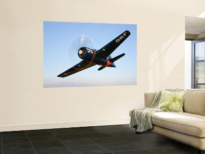 A Grumman F8F Bearcat in Flight-Stocktrek Images-Wall Mural
