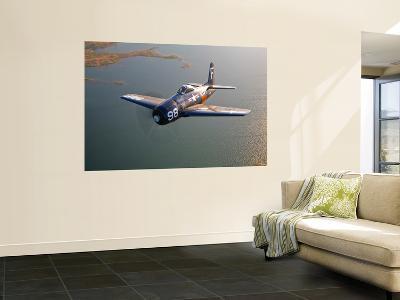 A Grumman F8F Bearcat in Flight-Stocktrek Images-Giant Art Print