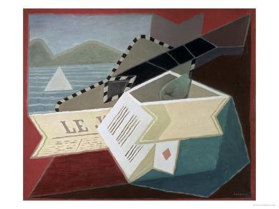 A Guitar Facing the Sea-Juan Gris-Giclee Print