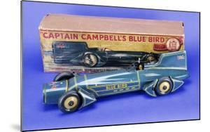 """A Gunthermann """"Captain Campbell's Bluebird"""", Clockwork Blue Lithographed Tinplate Car, circa 1931"""