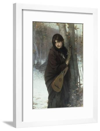 A Gypsy Girl with a Mandora Giclee Print - Jules Joseph