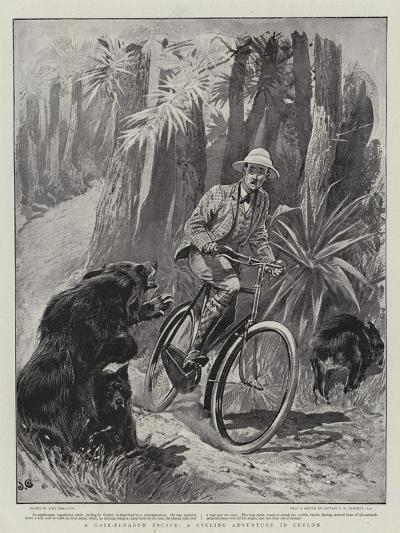 A Hair-Breadth Escape, a Cycling Adventure in Ceylon-John Charlton-Giclee Print