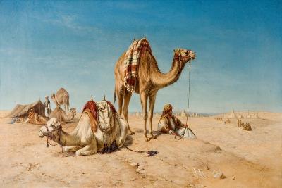 A Halt in the Desert, 1867-William Snr. Luker-Giclee Print
