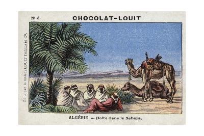 A Halt in the Sahara, Algeria--Giclee Print