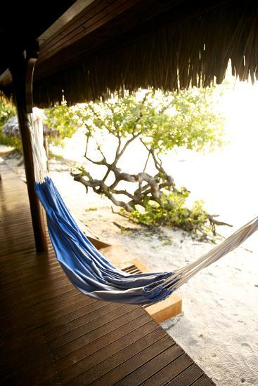 A Hammock Outside a Room At Medjumbe Island Resort in Mozambique-Jad Davenport-Photographic Print