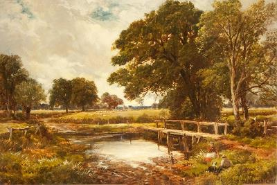 A Hampshire Ford, 1891-Edmund Morison Wimperis-Giclee Print