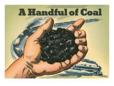 A Handful of Coal--Art Print