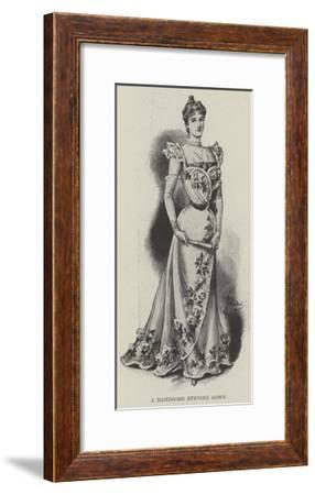 A Handsome Evening Gown--Framed Giclee Print