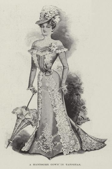 A Handsome Gown in Taffetas--Giclee Print