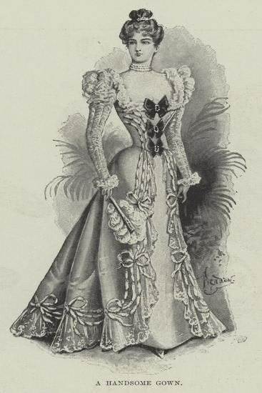 A Handsome Gown--Giclee Print