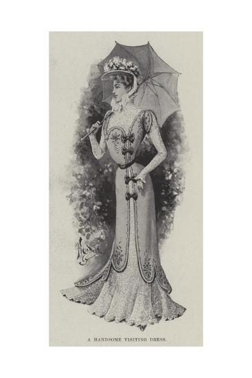 A Handsome Visiting Dress--Giclee Print