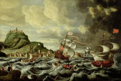 A Harbour Scene, Possibly Genoa-Andries van Eertvelt-Giclee Print